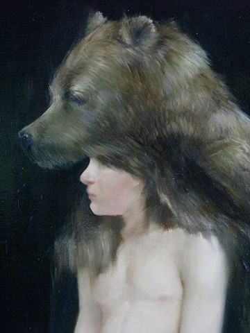 (detail of) John Paulee Going West with the Sight of a Bear