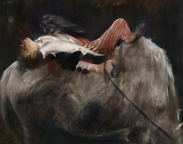 The Read the Hooves and the Heart after Le Mort de Bars by Charles Moreau- Vauthier (1857-1924)