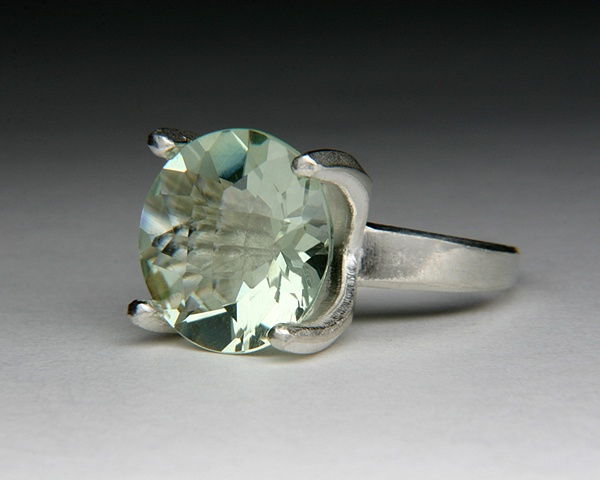 Angular Annie Ring with Prasiolite