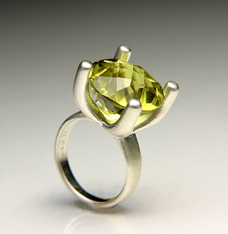Annie Ring in Silver with Lemon Citrine