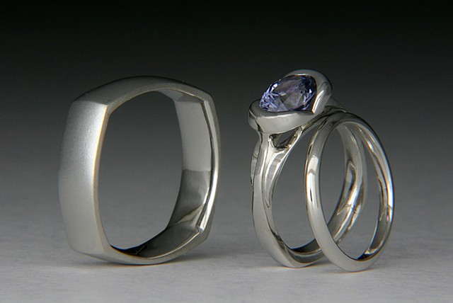 platinum, sapphires, custom, wedding