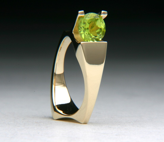 14kt Yellow Gold, Peridot