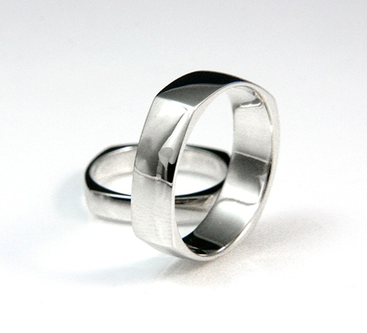 Wedding Set Moon Ring