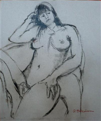 Seated nude – figure study # 28