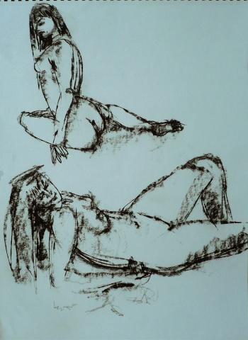 Figure study – 2 nudes #3