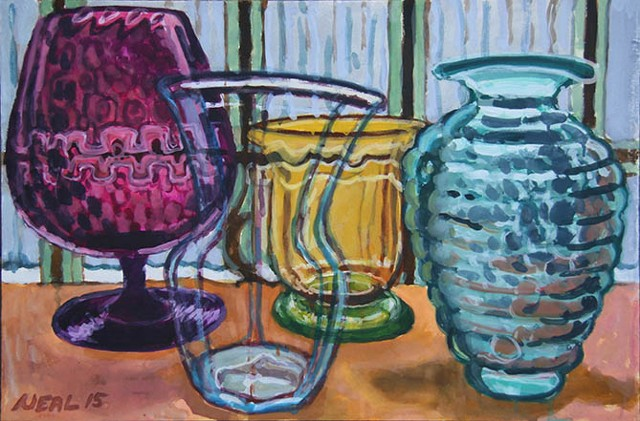 Colored glass (watercolor)