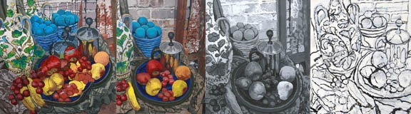 Still life with Milk Steamer Polyptych