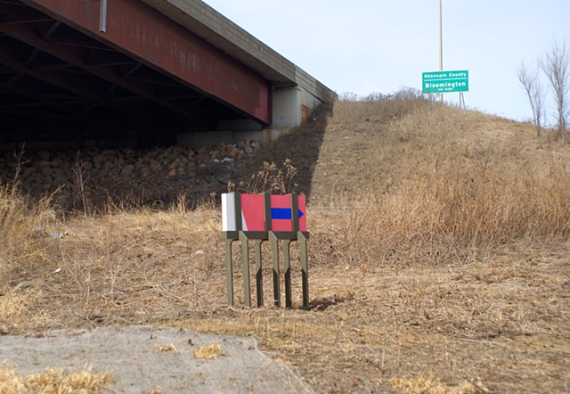 Installed at Minnesota River Bottoms, Bloomington Minnesota. March 15 2015