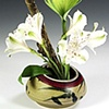 DB3 glazed ikebana vase.