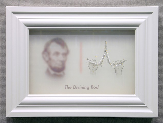 divining rod with abraham lincoln by michael paulus
