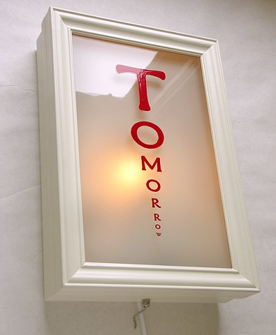 Tomorrow light box eyechart by michael paulus