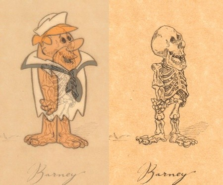 Barney Rubble ex. side by side