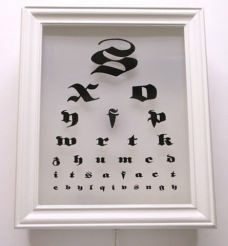 Its A Fact light box eyechart by michael paulus