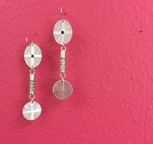 Four Directions earrings (oval-tube-round)