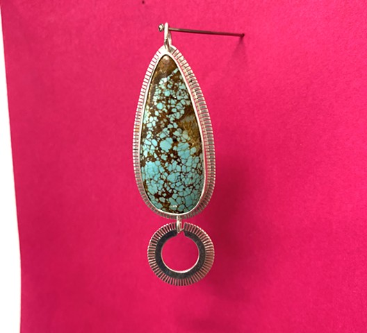 Natural No.8 Turquoise Superstition pendant