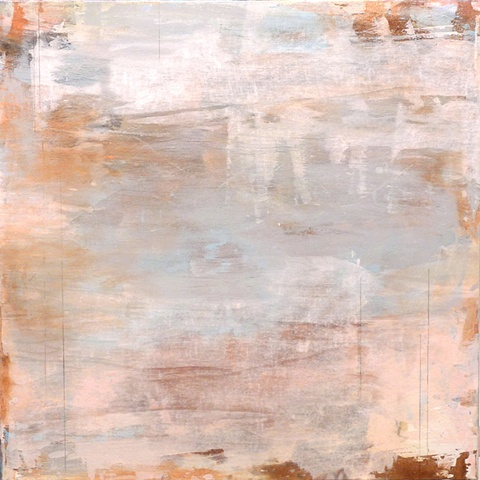 abstract whites grays browns landscape grid