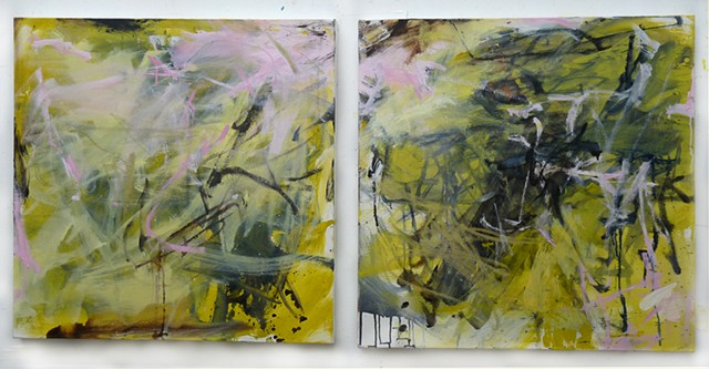 Yellow Diptych
