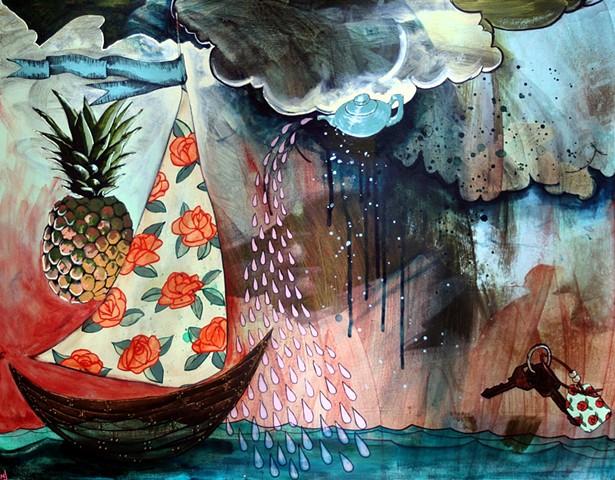 Sail Boat Tea Pot