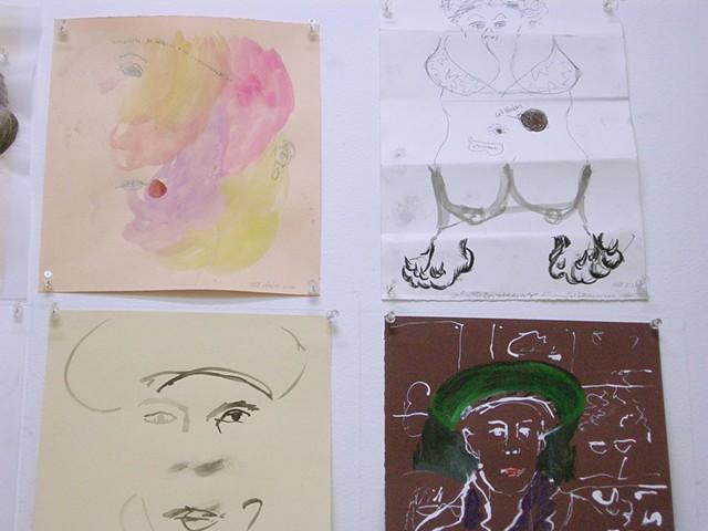 Sabina Ott, Candida Alvarez (exquisite corpse--Susanne Doremus, Sabina Orr, Candida Alvarez, Anne Harris, Kate Desjardins)