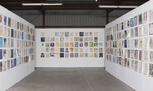 Installation view, Dalton Warehouse, Los Angeles, CA