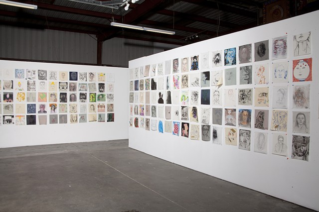 Installation view, Dalton Warehouse, 2017