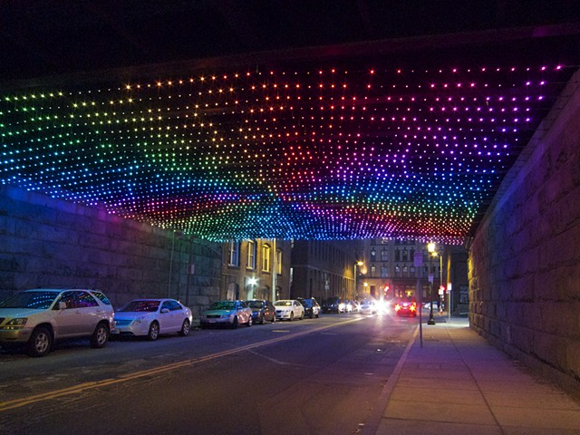 Starry Night Boston - a fully programmable LED installation