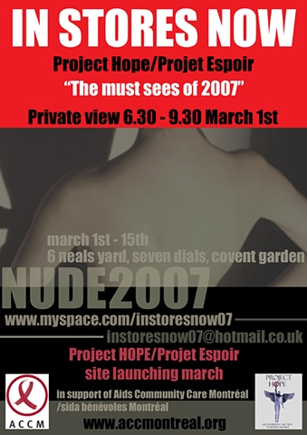 Flyer for Nude- front