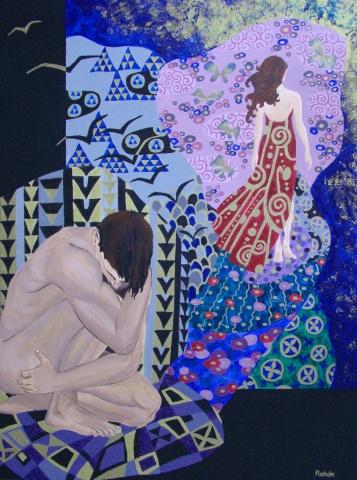 break up, sadness, acrylic painting
