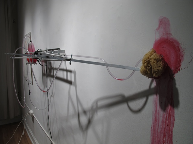 Mark Porter, kinetic sculpture, drawing machine, Territorial Marker