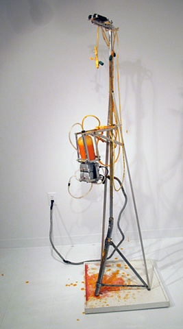 Mark Porter, kinetic sculpture, stalagmite