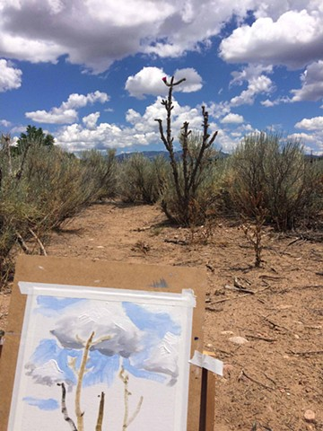 working en plein air in New Mexico