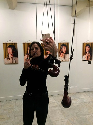I Want To Have My Pipe & Smoke It  Installation view with participant, ArtSpace at Arti et Amicitiae, Amsterdam, The Netherlands 2019