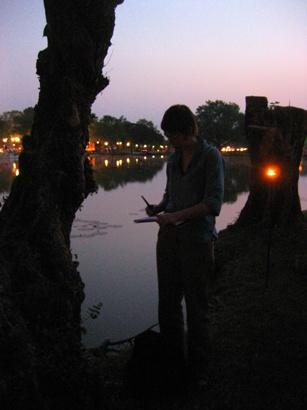 Loy Krathong Light and Candle Fesitval Sukhothai Historical Park  Thailand November 2009