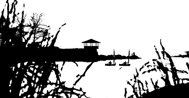 Connecticut Coastline Litho
