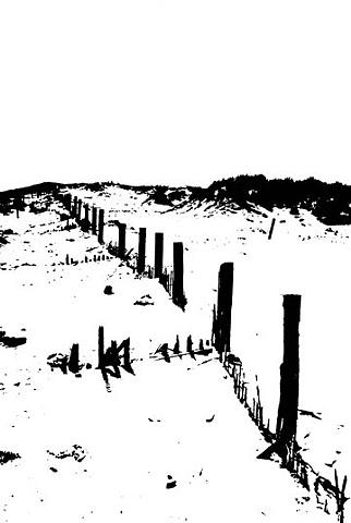 Beach Fence Litho