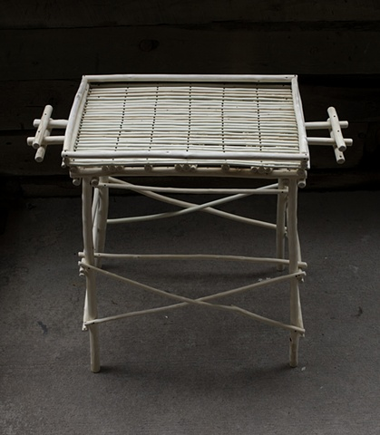 Willow End Table - stripped