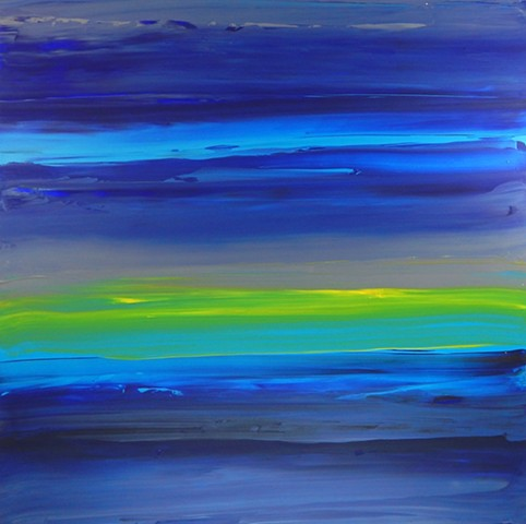 large peaceful abstract water painting