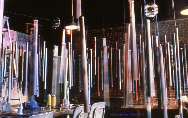 Broad view of Tubes installation, Comet Tavern, Seattle  (1986)