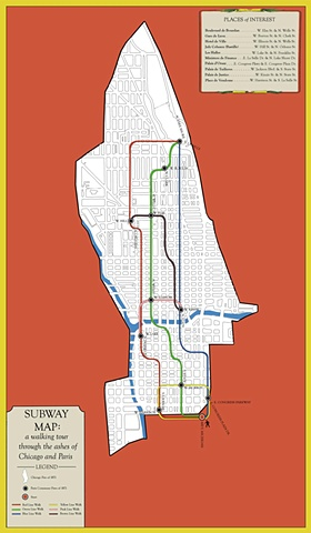 SUBWAY MAP: a walking tour (FRONT)