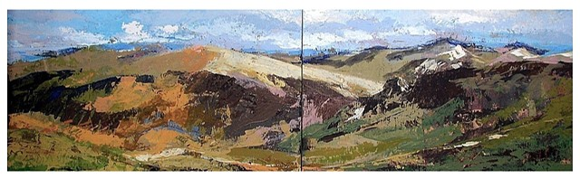 Spring in the Highlands (diptych)