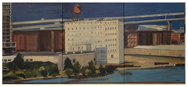 What's Left of Centennial Mills (triptych)