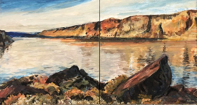 """Central Oregon"" ( diptych )"