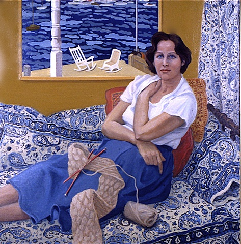 Mary Abrams in her Studio