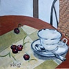 Tea Cup and Cherries