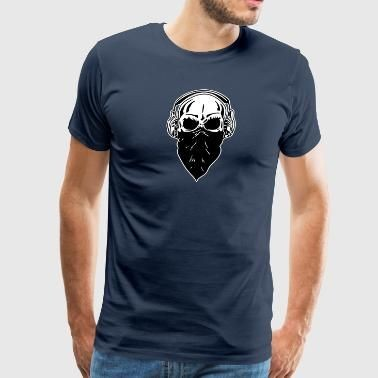 Skull with Head Phones T-Shirt