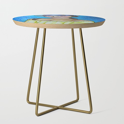 Yellow T Side Table