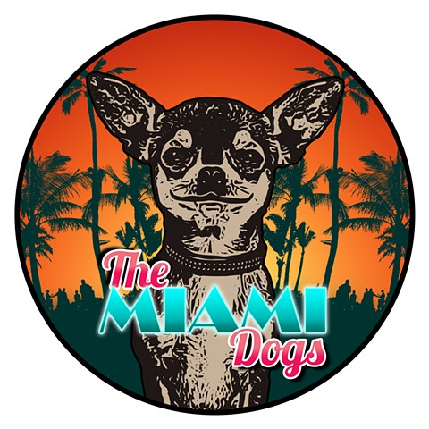 The Miami Dogs Color Logo