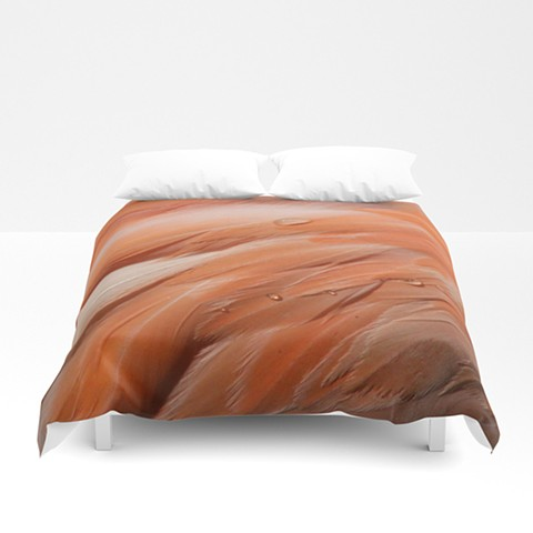 Flamingo Feathers Comforter