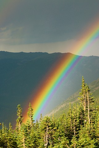 Rainbow Over The Rockies