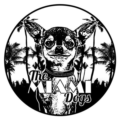 The Miami Dogs B/W Logo